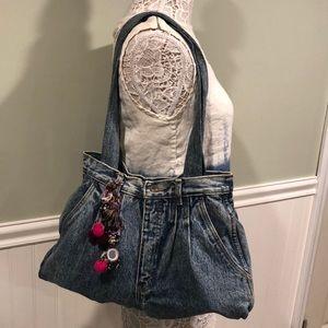 Boho Chic Denim Jeans Bag FILLED w/ Surprises! 💜